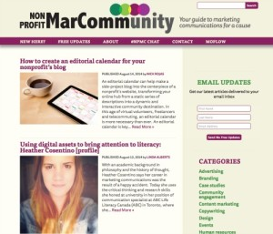 Nonprofit MarCommunity blog