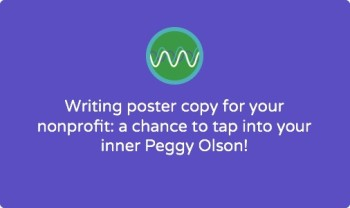 How to write a promotional poster for your nonprofit