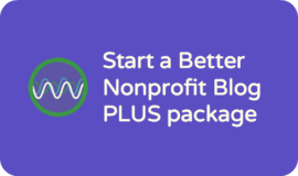 Service spotlight: nonprofit blog planning package