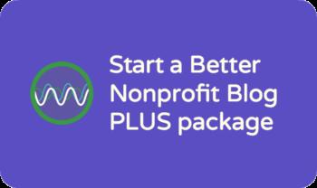 Service spotlight: nonprofit blog planning package