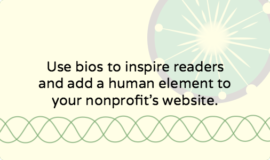 How to write a bio for your nonprofit's About section