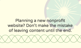 Developing a website content strategy for a new nonprofit site