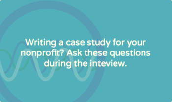 study interview questions for nonprofit organizations