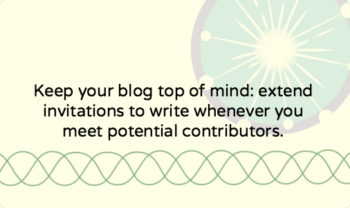 Finding writers for your blog: my tips and examples