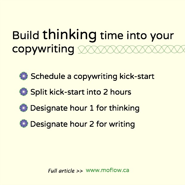 Are you giving yourself time to think when writing?