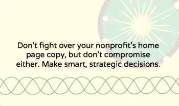 12 tips for writing a nonprofit website home page