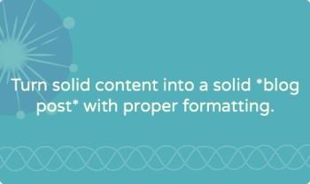 Blog post formatting: eight point copy checklist