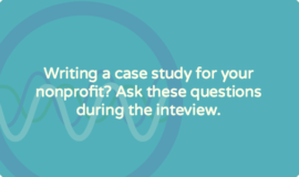 Case study interview questions for nonprofit organizations