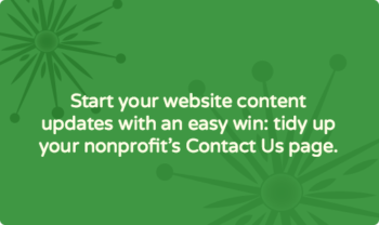 How to quickly update your nonprofit's Contact Us page content