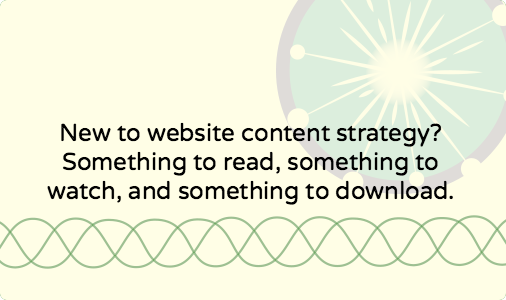 Website content strategy: article, webinar recording and PDF guide to get you started