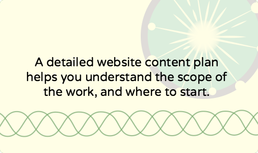 How to go from strategy to website content action plan [template]