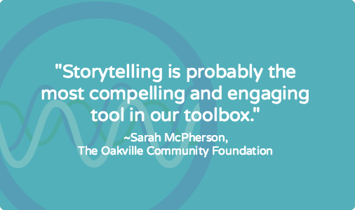 Writing stories for a community foundation [case study]