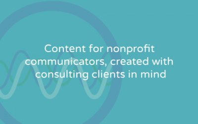 Bringing back my blog and email updates for nonprofit communicators