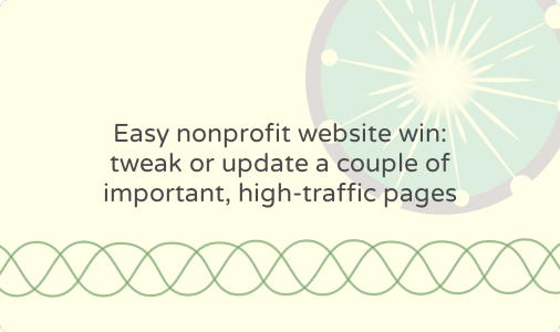 Quickly update stale nonprofit web pages: roundup of copy prompts