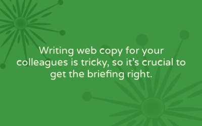 Web copy briefings: have a conversation, ask the right questions